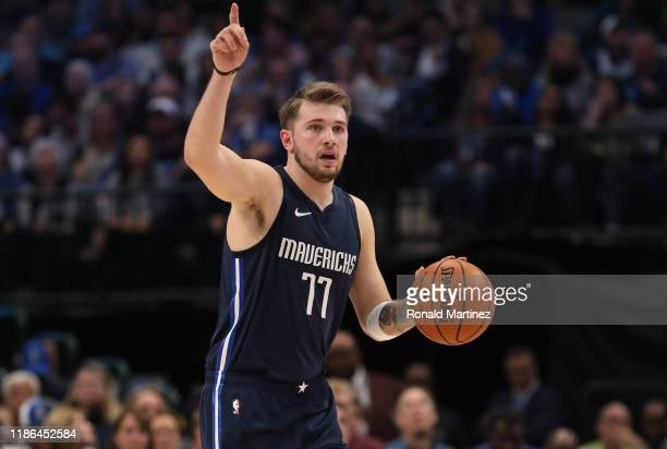 Luka Doncic of the Dallas Mavericks at American Airlines Center on November 08 2019 in Dallas Texas NOTE TO USER User expressly acknowledges and...
