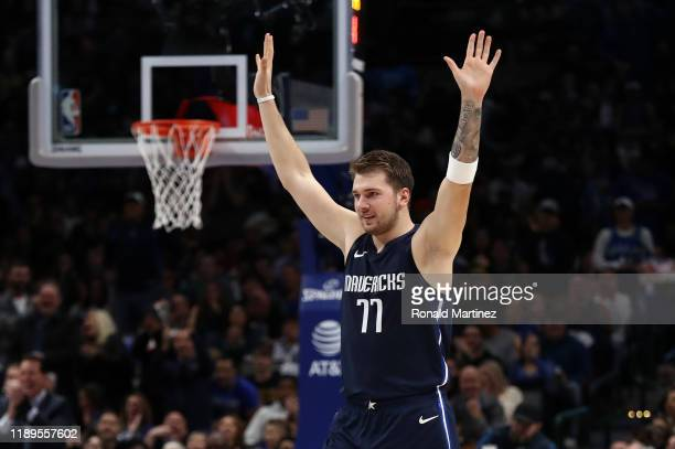 Luka Doncic of the Dallas Mavericks at American Airlines Center on November 22 2019 in Dallas Texas NOTE TO USER User expressly acknowledges and...