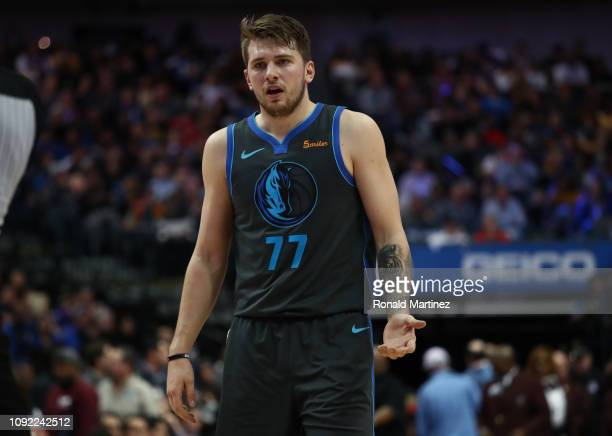 Luka Doncic of the Dallas Mavericks during a game against the Los Angeles Lakers at American Airlines Center on January 07 2019 in Dallas Texas NOTE...