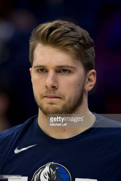 Luka Doncic of the Dallas Mavericks looks on prior to the game against the Philadelphia 76ers at Wells Fargo Center on January 5 2019 in Philadelphia...