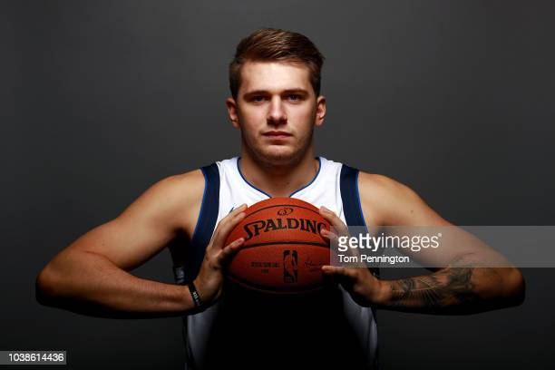 Luka Doncic of the Dallas Mavericks poses for a portrait during the Dallas Mavericks Media Day held at American Airlines Center on September 21 2018...