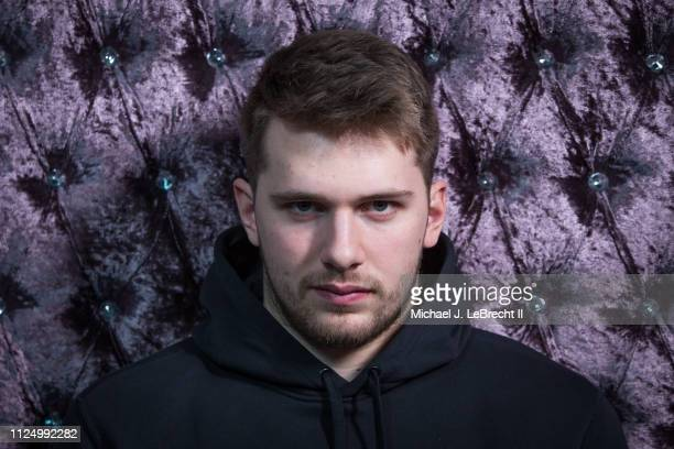 Luka Doncic of the Dallas Mavericks poses for portraits during the NBAE Circuit as part of 2019 NBA AllStar Weekend on February 14 2019 at the...