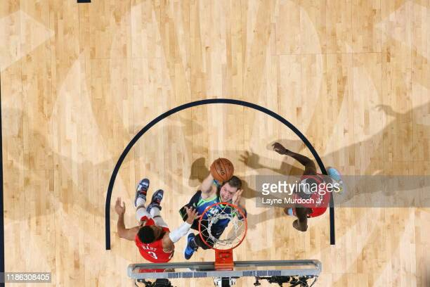 Luka Doncic of the Dallas Mavericks shoots the ball against the New Orleans Pelicans on December 3 2019 at the Smoothie King Center in New Orleans...