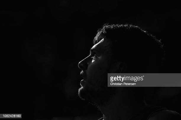 Luka Doncic of the Dallas Mavericks sits on the bench during the second half of the NBA game against the Phoenix Suns at Talking Stick Resort Arena...