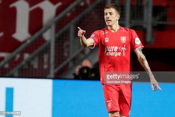 Luka Ilic of FC Twente celebrate 5-1 during the Dutch Eredivisie match between Fc Twente v PEC Zwolle at the De Grolsch Veste on October 31, 2020 in...