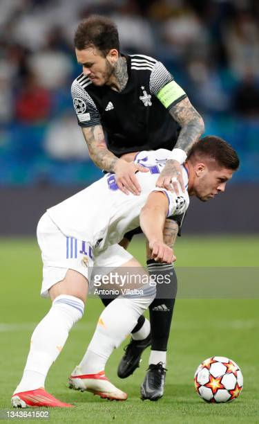 Luka Jović of Real Madrid in action during the UEFA Champions League group D match between Real Madrid and FC Sheriff at Estadio Santiago Bernabeu on...