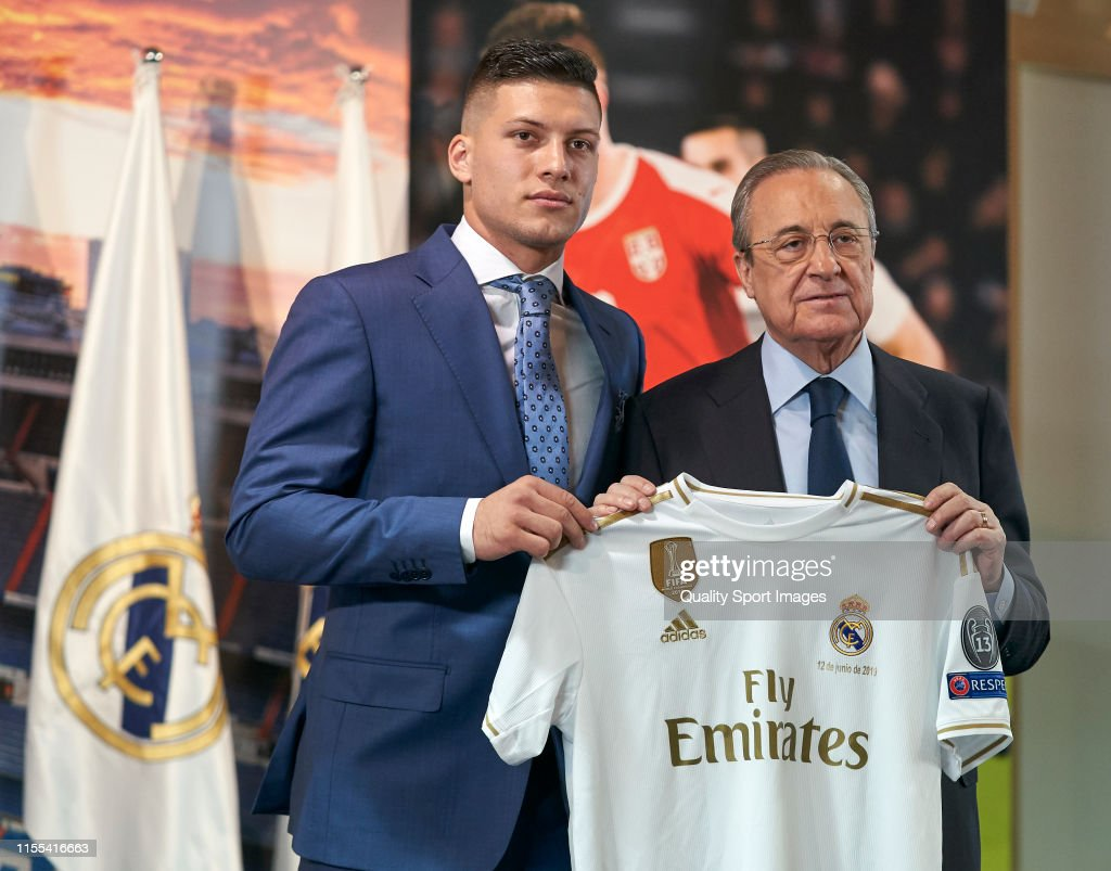 Real Madrid Unveil New Signing Luka Jovic : News Photo