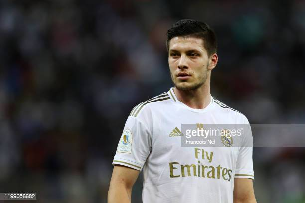 Luka Jovic of Real Madrid looks on during the Supercopa de Espana Final match between Real Madrid and Club Atletico de Madrid at King Abdullah Sports...