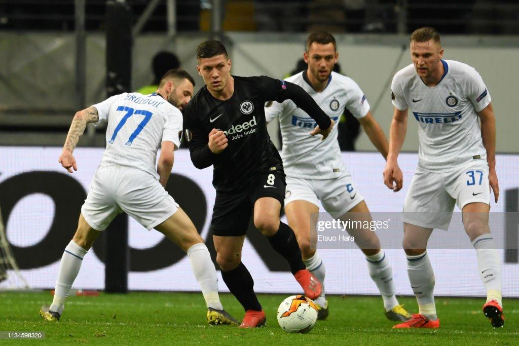 Eintracht Frankfurt v FC Internazionale - UEFA Europa League Round of 16: First Leg : Fotografía de noticias