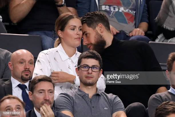 Luka Karabatic and Jeny Priez during day four of the Rolex Paris Masters on November 1 2018 in Paris France