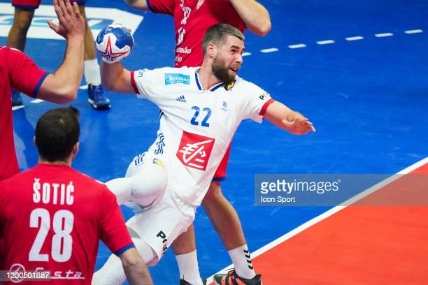 Luka KARABATIC of France during the Qualifying Euro 2022 match between France and Serbia on January 9, 2021 in Creteil, France.