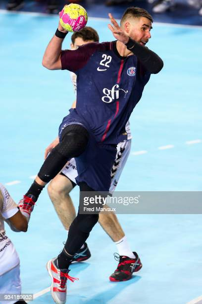 Luka Karabatic of Paris Saint Germain during the League Cup semi final match between Paris Saint Germain PSG and Dunkerque on March 17 2018 in Metz...