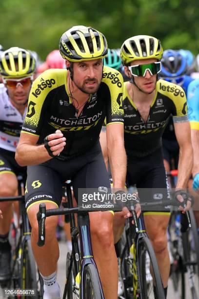 Luka Mezgec of Slovenia and Team Mitchelton - Scott White Best Young Jersey / Sam Bewley of New Zealand and Team Mitchelton - Scott / Simon Yates of...