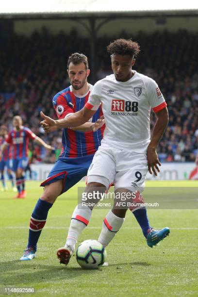 Luka Milivojevic of Crystal Palace and Lys Mousset of Bournemouth during the Premier League match between Crystal Palace and AFC Bournemouth at...