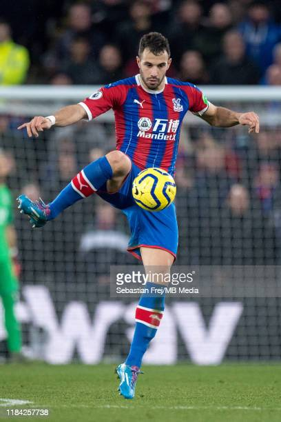 Luka Milivojevic of Crystal Palace during the Premier League match between Crystal Palace and Liverpool FC at Selhurst Park on November 23 2019 in...
