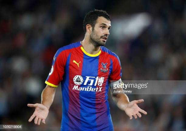 Luka Milivojevic of Crystal Palace reacts during the Premier League match between Crystal Palace and Liverpool FC at Selhurst Park on August 20 2018...