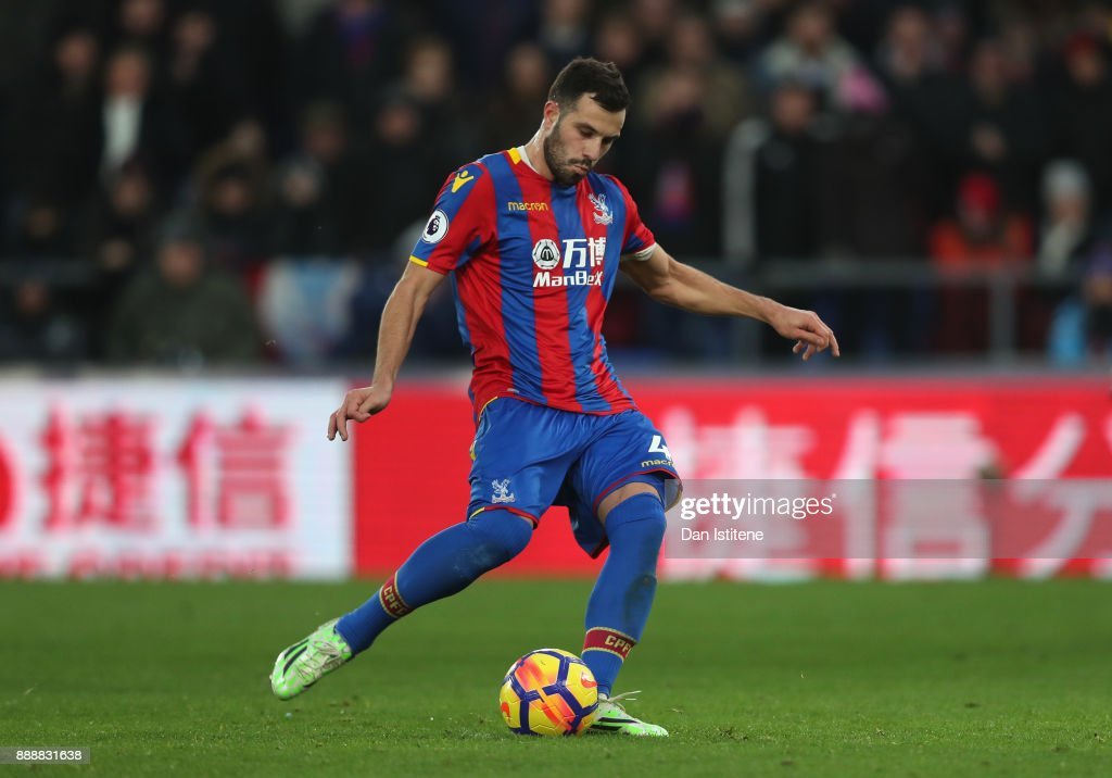 Luka Milivojevic of Crystal Palace scores his sides first goal from the penalty spot during the Premier League match between Crystal Palace and AFC Bournemouth at Selhurst Park on December 9, 2017 in London, England.