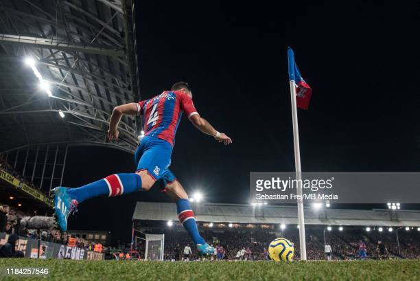 Luka Milivojevic of Crystal Palace take corner kick during the Premier League match between Crystal Palace and Liverpool FC at Selhurst Park on...