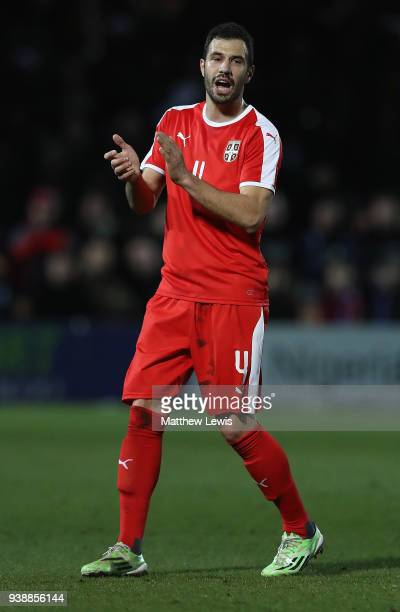 Luka Milivojevic of Serbia in action during the International Friendly match between Nigeria and Serbia at The Hive on March 27 2018 in Barnet England