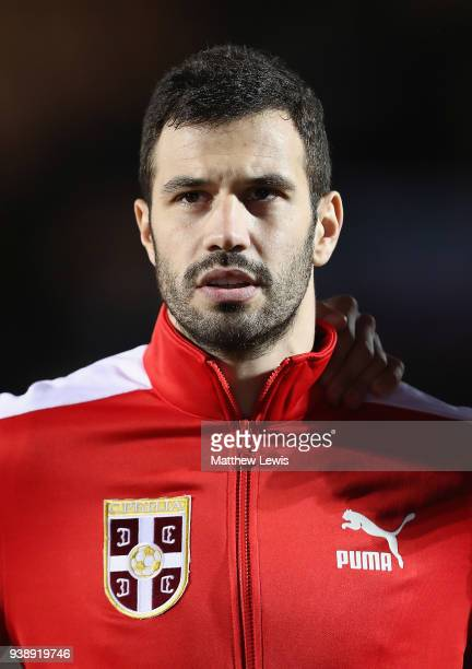 Luka Milivojevic of Serbia pictured ahead of the International Friendly match between Nigeria and Serbia at The Hive on March 27 2018 in Barnet...