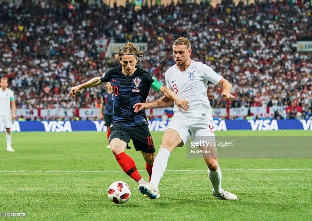 FIFA World Cup - England against Croatia in the Semi final : News Photo