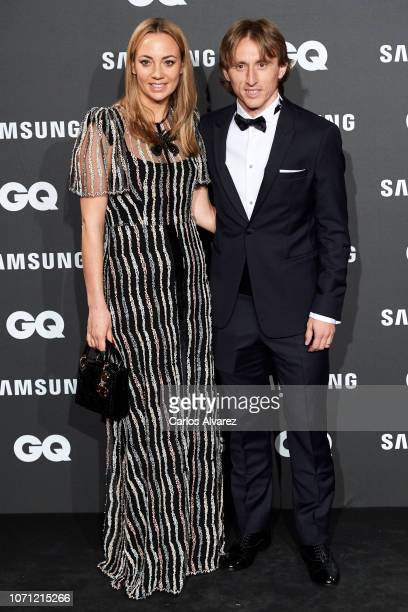 Luka Modric and wife Vanja Bosnic attend the 2018 GQ Men of the Year awards at the Palace Hotel on November 22 2018 in Madrid Spain