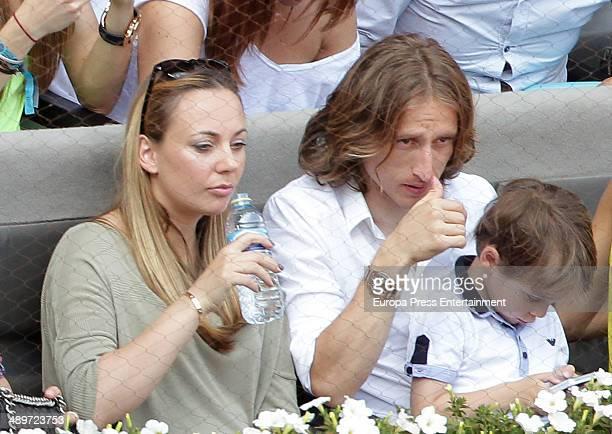 Luka Modric attends Mutua Madrid Open at La Caja Magica on May 10, 2014 in Madrid, Spain.