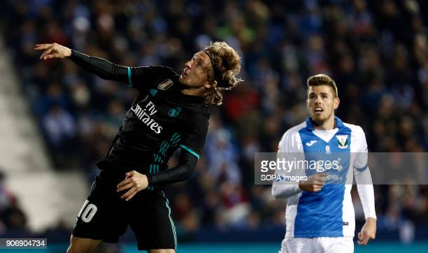 STADIUM LEGANéS MADRID SPAIN Luka Modric during the match Jan 2018 Leganés and Real Madrid CF at Butarque Stadium Copa del Rey Quarter Final First...