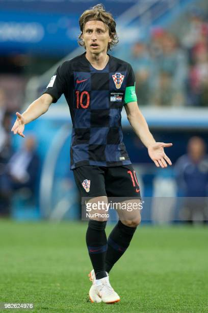 Luka Modric during the Russia 2018 World Cup Group D football match between Argentina and Croatia at the Nizhny Novgorod Stadium in Nizhny Novgorod...