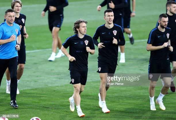 0bfa6a2c8 ... 2018 FIFA World Cup. ED. Editorial use only. Luka Modric of Croatia and  teammates during a Croatia training session at Luzhniki Stadium on July