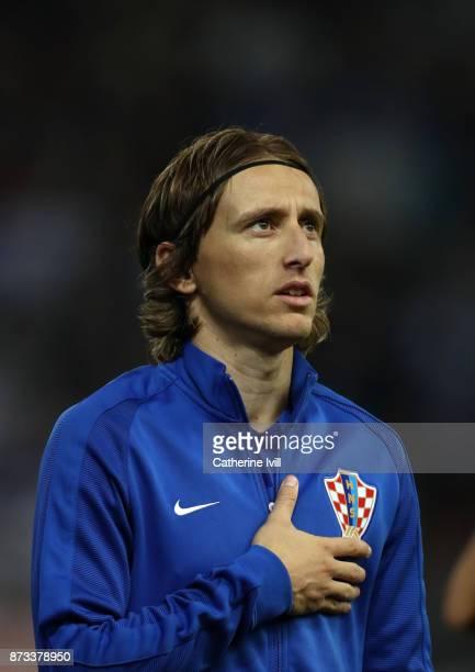 Luka Modric of Croatia during the FIFA 2018 World Cup Qualifier PlayOff Second Leg between Greece and Croatia at Karaiskakis Stadium on November 12...