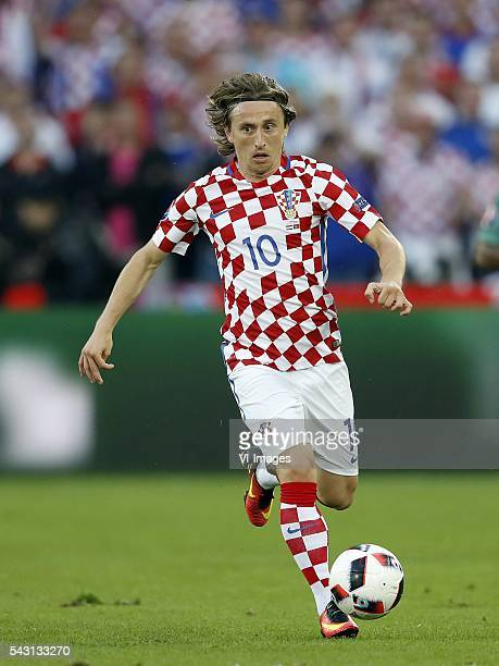 Luka Modric of Croatia during the UEFA Euro 2016 round of 16 match between Croatia and Portugal on June 25 2016 at the stade BollaertDelelis in Lens...