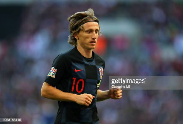 Luka Modric of Croatia during the UEFA Nations League A group four match between England and Croatia at Wembley Stadium on November 18, 2018 in...