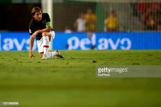 Luka Modric of Croatia during the UEFA Nations League football match between Spain and Croatia at Martinez Valero Stadium in Elche Spain on September...