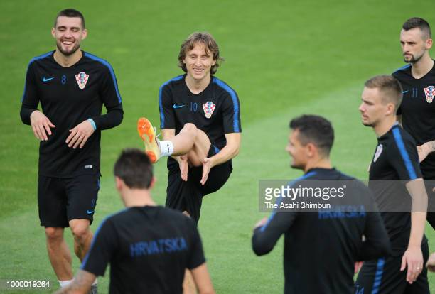 835dd0b90 Luka Modric of Croatia in action during a Croatia training during the 2018  FIFA World Cup