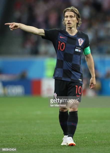 Luka Modric of Croatia is seen during the 2018 FIFA World Cup Russia group D match between Argentina and Croatia at Nizhny Novgorod Stadium on June...