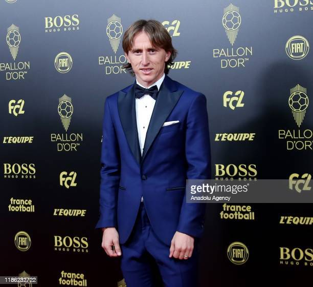 Luka Modric of Real Madrid arrives to attend for the Ballon d'Or ceremony at Theatre du Chatelet in Paris on December 02 2019