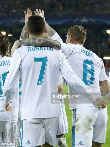 Luka Modric of Real Madrid Cristiano Ronaldo of Real Madrid Sergio Ramos of Real Madrid Toni Kroos of Real Madrid during the UEFA Champions League...