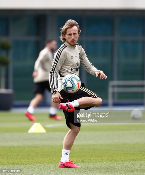 Luka Modric of Real Madrid during a first training session since the Covid19 pandemic at Valdebebas training ground on May 11 2020 in Madrid Spain