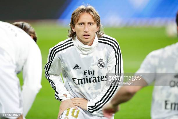 Luka Modric of Real Madrid during the La Liga Santander match between Real Madrid v Real Betis Sevilla at the Santiago Bernabeu on November 2 2019 in...
