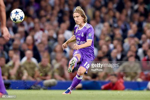 Luka Modric of Real Madrid during the UEFA Champions League Final match between Real Madrid and Juventus at the National Stadium of Wales Cardiff...