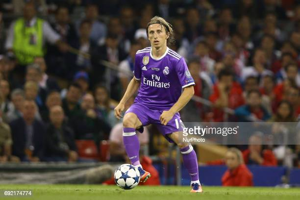 Luka Modric of Real Madrid during the UEFA Champions League Final between Juventus and Real Madrid at National Stadium of Wales on June 3 2017 in...