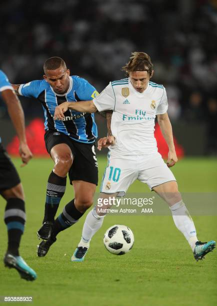 Luka Modric of Real Madrid in action during the FIFA Club World Cup UAE 2017 final match between Gremio and Real Madrid CF at Zayed Sports City...