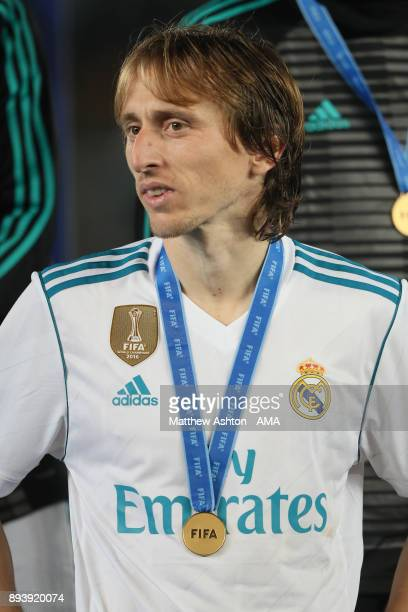 Luka Modric of Real Madrid looks on at the end of the FIFA Club World Cup UAE 2017 final match between Gremio and Real Madrid CF at Zayed Sports City...