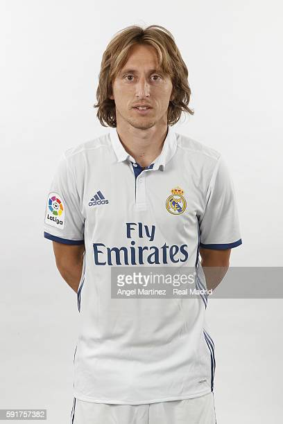Luka Modric of Real Madrid poses during a portrait session at Valdebebas training ground on August 18 2016 in Madrid Spain