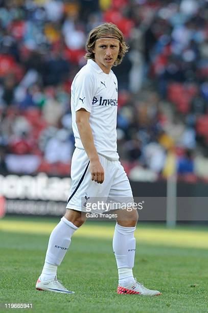 Luka Modric of Tottenham in action during the 2011 Vodacom Challenge final match between Orlando Pirates and Tottenham Hotspur at Coca Cola Stadium...
