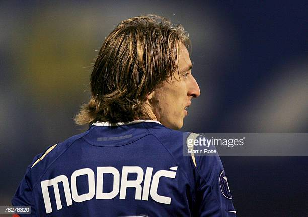 Luka Modric of Zagreb during the UEFA Cup Group D match between Dinamo Zagreb and Hamburger SV at the Maksimir stadium on December 5 2007 in Zagreb...