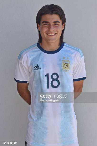 Luka Romero of Argentina poses during the official photo session of Argentina ahead of 2019 U15 South American Championship on November 22 2019 in...