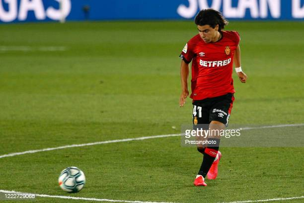 Luka Romero of RCD Mallorca during the La Liga match between Real Madrid and RCD Mallorca played at Alfredo Di Stefano Stadium on June 24 2020 in...