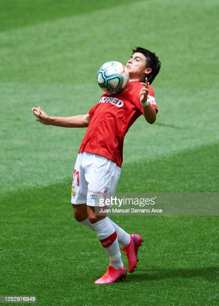 Luka Romero of RCD Mallorca in action during the Liga match between Athletic Club and RCD Mallorca at San Mames Stadium on June 27 2020 in Bilbao...